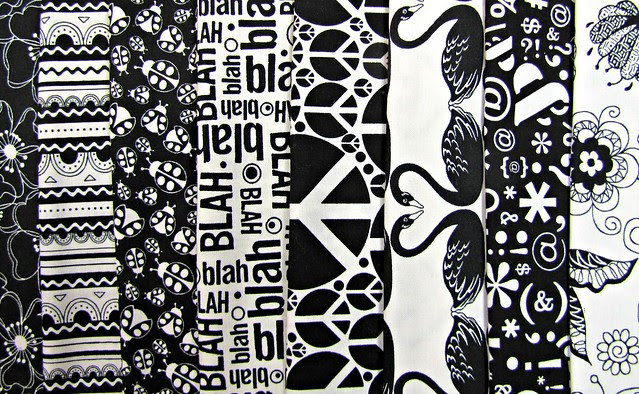Black & White Bundle for Friday's Fabric Giveaway!