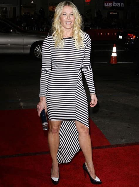 """Chelsea Handler in Striped Dress at """"This Means War"""" Premiere"""