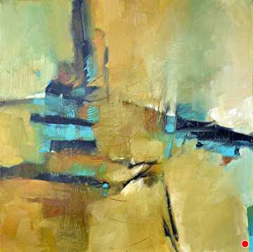 """The Tower by Filomena Booth Acrylic ~ 24"""" x 24"""""""