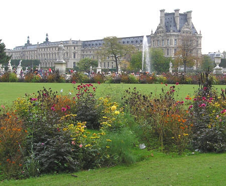 Jardin des Tuileries in Paris France
