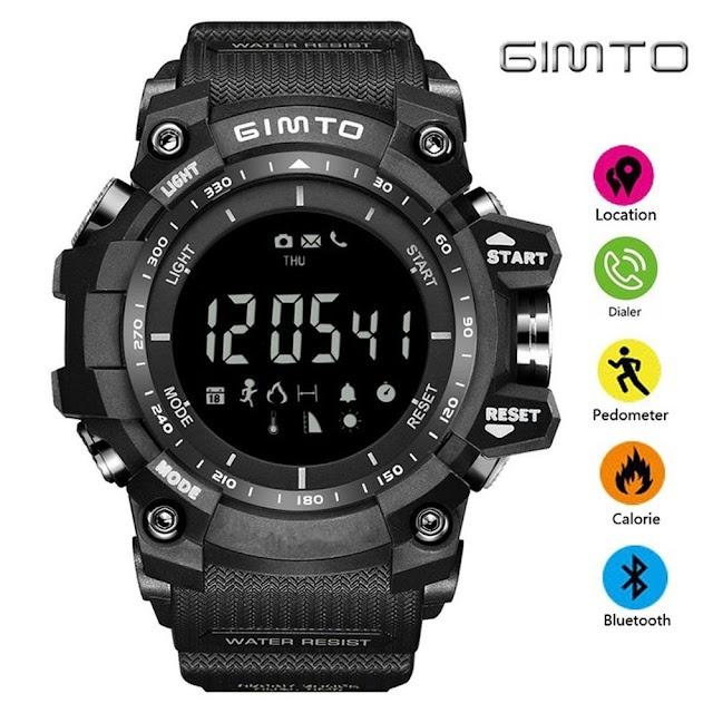 Kopen Goedkoop GIMTO Outdoor Sport Smart Horloge Waterdichte Digitale Stopwatch Mannelijke Militaire Elektronica Hoogtemeter Barometer Stappenteller Klok Online