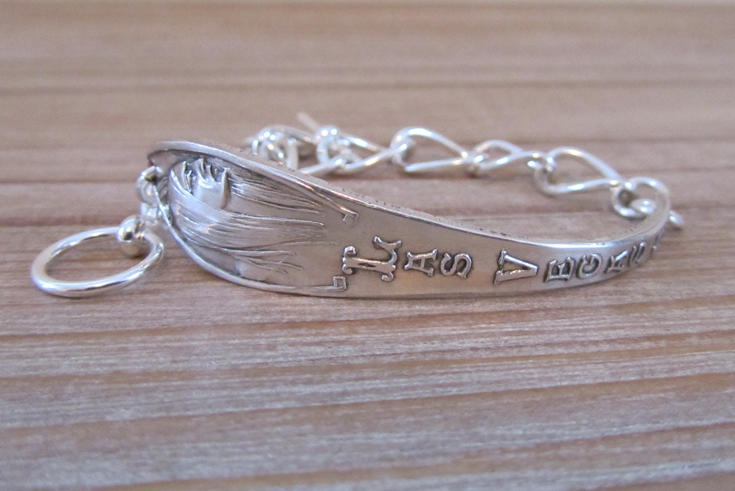 Las Vegas Nevada souvenir spoon Bracelet in Sterling Silver on chunky silver chain