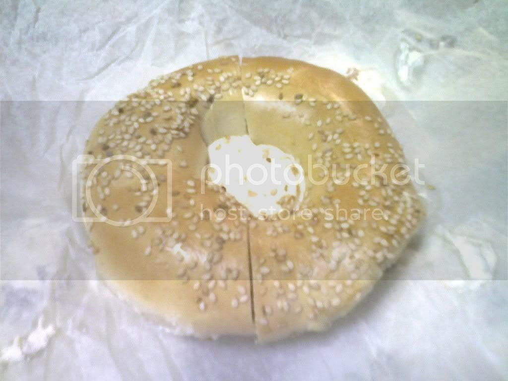 Sesame Bagel with Salmon Cream Cheese