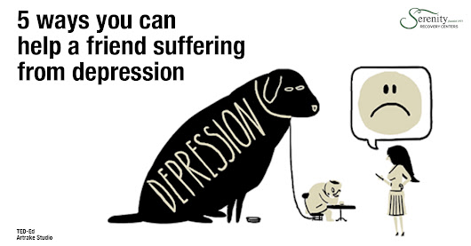 5 ways you can help a friend suffering from depressionDepression is the leading cause of disability in the world; in the United States, close to ten percent of adults struggle with depression. But because it's a mental illness, it can be a lot harder to understand than, say, high cholesterol.