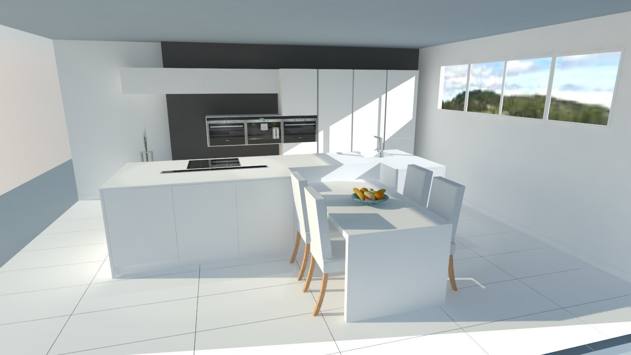 Deco Cuisine Contemporaine Blanche cuisine moderne blanche