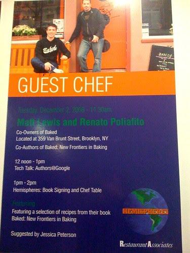 Matt Lewis and Renato Poliafito as Guest Chefs at Google
