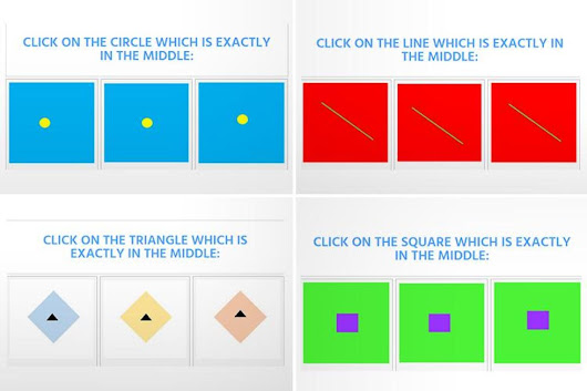 Test your eye-sight by trying to find the shapes that are exactly in the middle