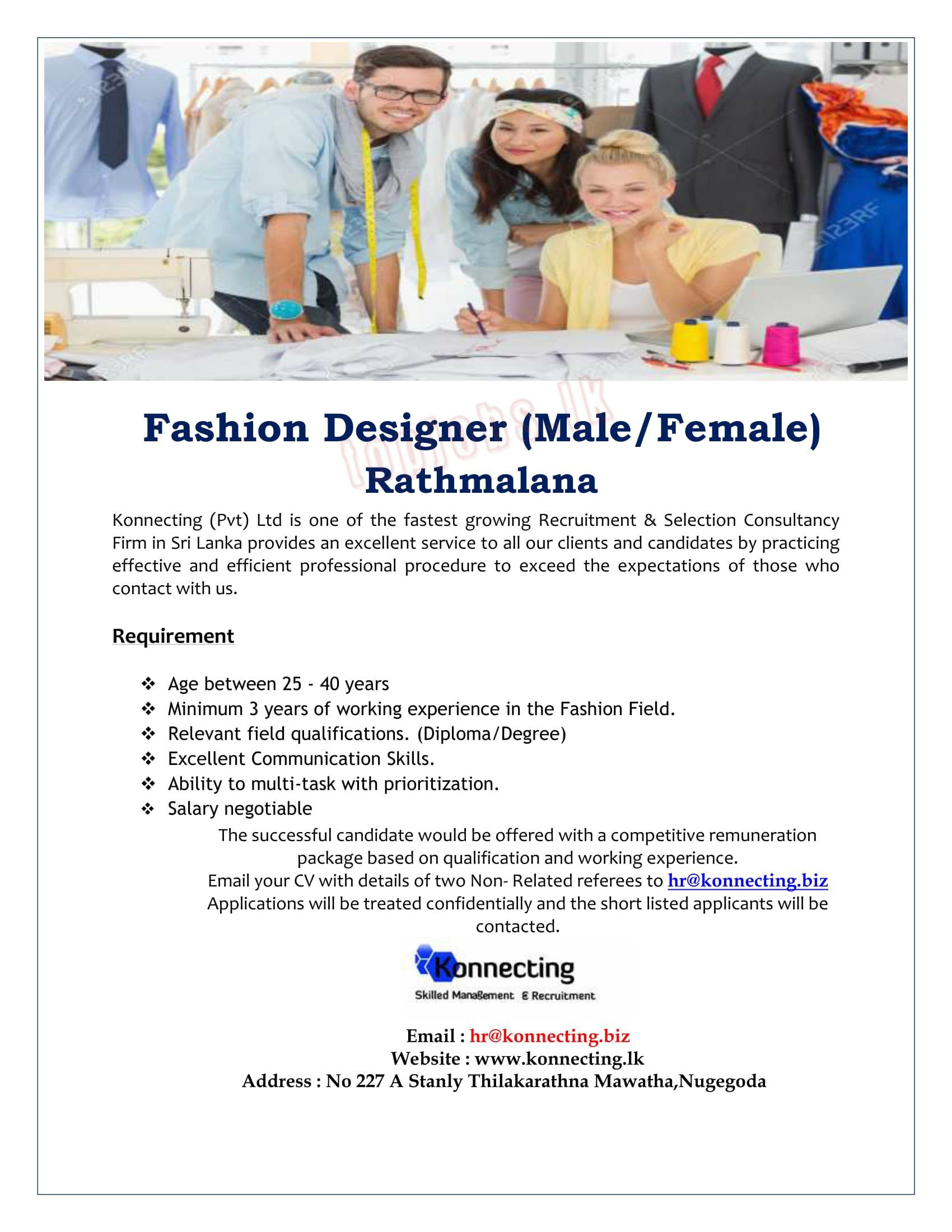 Fashion All The Time Job Requirements For Fashion Designer