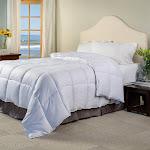 Superior All Season Stripes White Down Alternative Comforter King