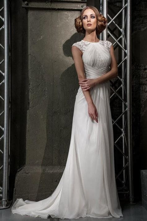 Stunning Slim Silhouette Wedding Dress With Lace Details