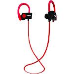Naxa 93599635M Performance Bluetooth Wireless Sport Earphones, Red