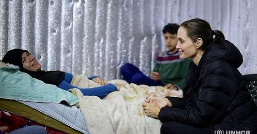Angelina Jolie Speaks Up For Syrian Refugee on UNHCR trip | POPSUGAR Celebrity and Entertainment