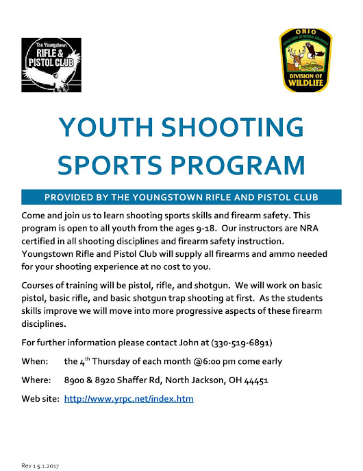 Youth shooting sports program - Lowellville Rod and Gun Club