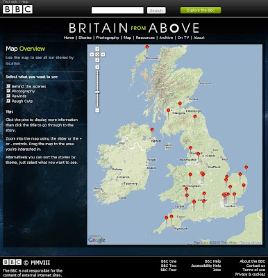 BBC Britain from Above - Map
