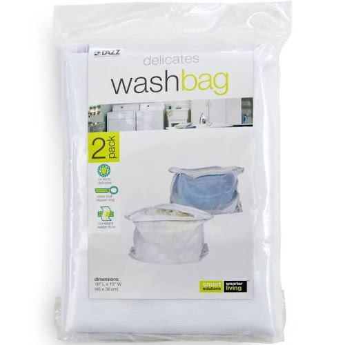 Real Simple Wash Bags, Clear - 2 count