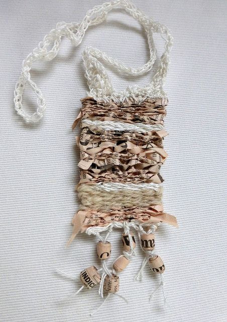 woven necklace with Financial Times | Flickr - Photo Sharing!