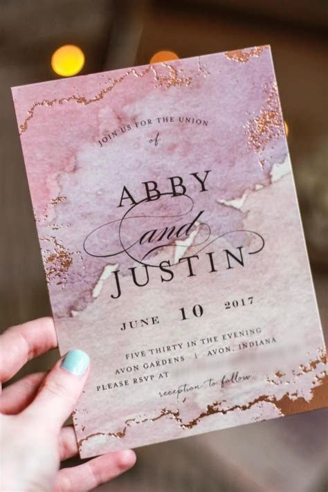 Gilded Shore in 2019   Pink Wedding   Wedding Invitations