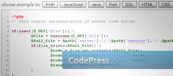 codepress-online-syntax-highlighter