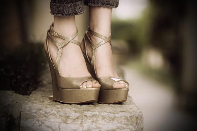 Moschino Platform Wedge sandals, Fashion