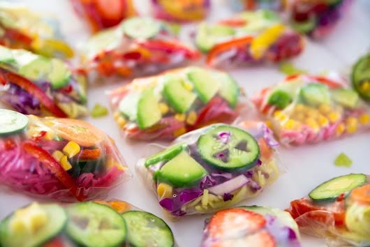 Easy and Healthy Rainbow Rice Rolls Kids Will Love - Meraki Mother
