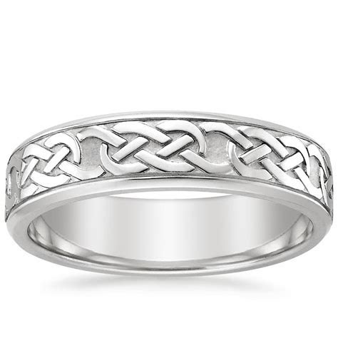 Celtic Eternity Knot Ring in 18K White Gold