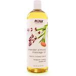 NOW Foods Massage Oil, Lavender Almond - 16 fl oz bottle