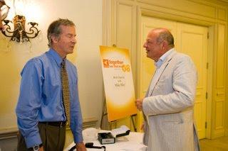 Mike with Tele Atlas founder Alain DeTaeye