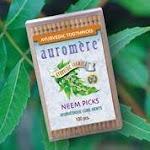 Auromere Ayurvedic Products Ayurvedic Neem Picks - 100 Toothpicks