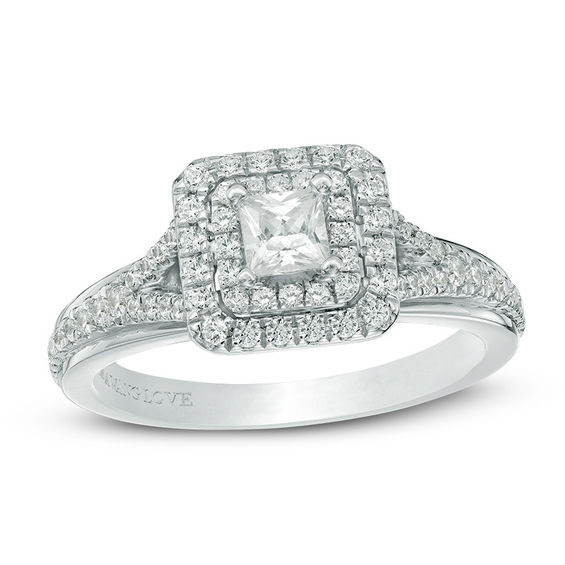 Vera Wang Love Collection 058 Ct Tw Princess Cut Diamond Double