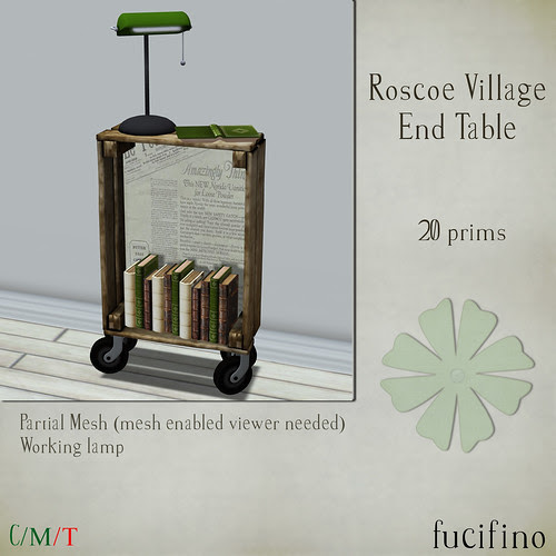 fucifino.roscoe village end table for the keep calm and keep shopping event