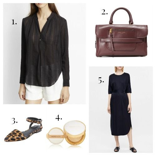 Vince Blouse - Marc Jacobs Handbag - Alexander Wang Flats - Amore Pacific Sunscreen - COS Dress
