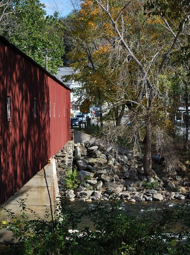 The West Side of the West Cornwall Covered Bridge