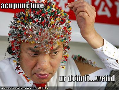 写真:鍼治療と脳卒中