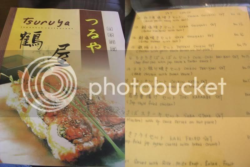 Tsuruya menu