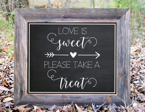 Love Is Sweet Please Take A Treat Chalkboard Sign Wedding