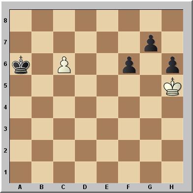 Rompecabezas de ajedrez aplicando la maniobra de Reti