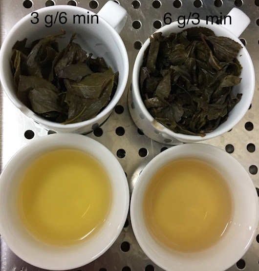 IMPACTS of tea brewing conditions on the chemical composition of tea liquor