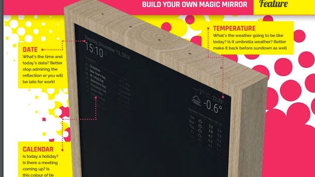 This Raspberry Pi-Powered Magic Mirror Can Be Set Up With One Line of Code