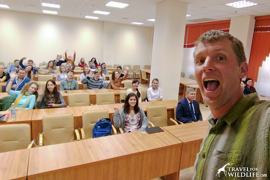 How Photography and Blogging Can Promote Wildlife Conservation (My Lecture in Russia) - Travel For Wildlife