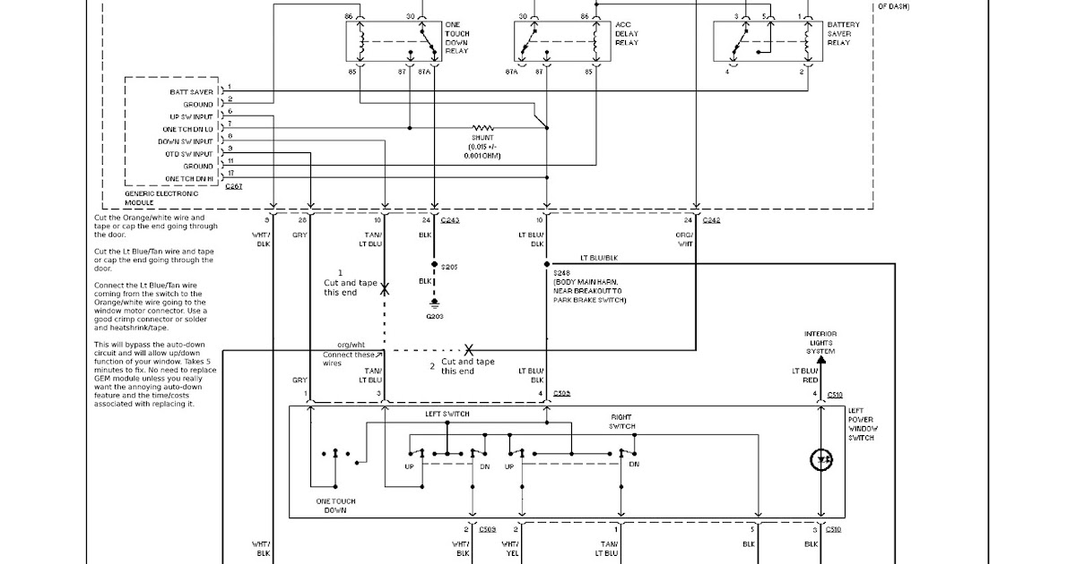 2001 Ford Mustang Power Window Wiring Diagram - espressorose