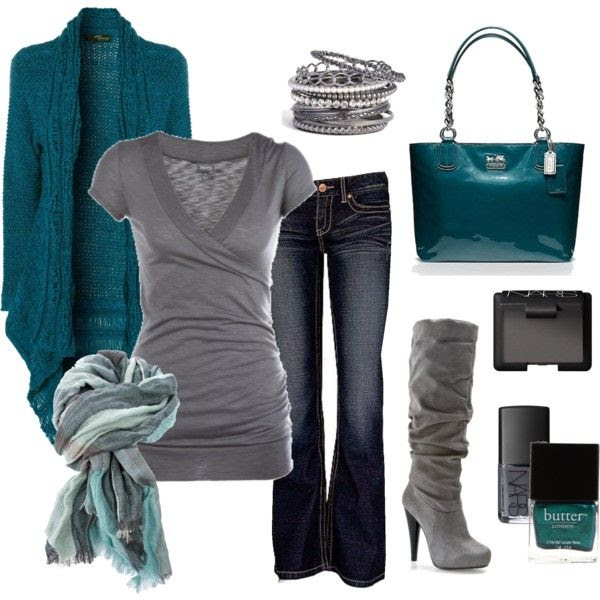 Teal and grey:)