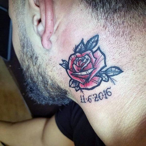 Flower Neck Tattoos For Guys Flowers Healthy