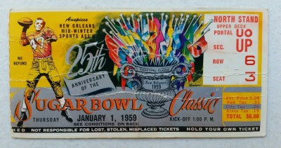 College Bowl Ticket Stubs: The Beauty and the the Beastly Present
