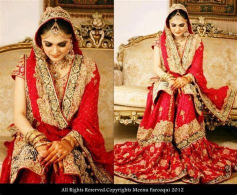 Red Bridal Gharara  because what's a Muslim bride without