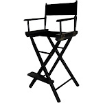 """Casual Home 30"""" Director's Chair Black Frame-Black Canvas"""