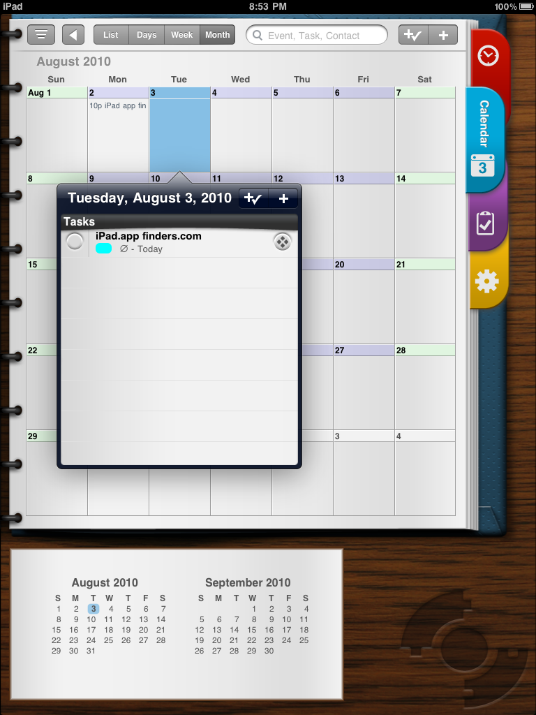 Pocket Informant HD Calendar Tasks for iPadiPad App