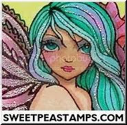 Sweet Pea Stamps Button