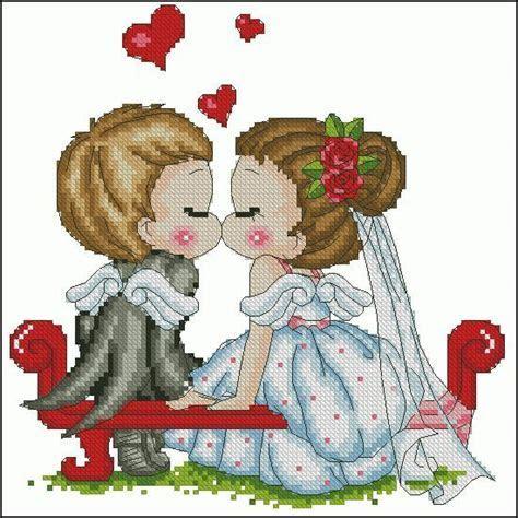 Free cross stitch pattern ?Wedding?   Cross Stitch Club