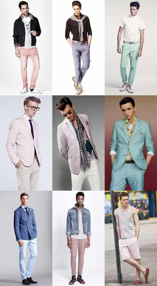 Men's Statement Pastel Colours Lookbook