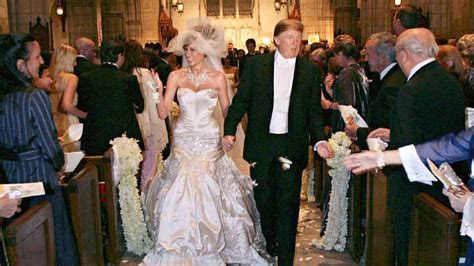 Pictures of Melania Trump Wedding dress and her engagement